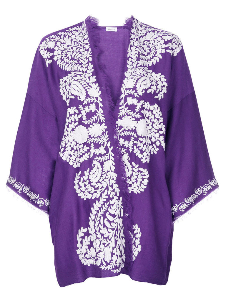 P.A.R.O.S.H. embroidered shawl jacket - Pink & Purple