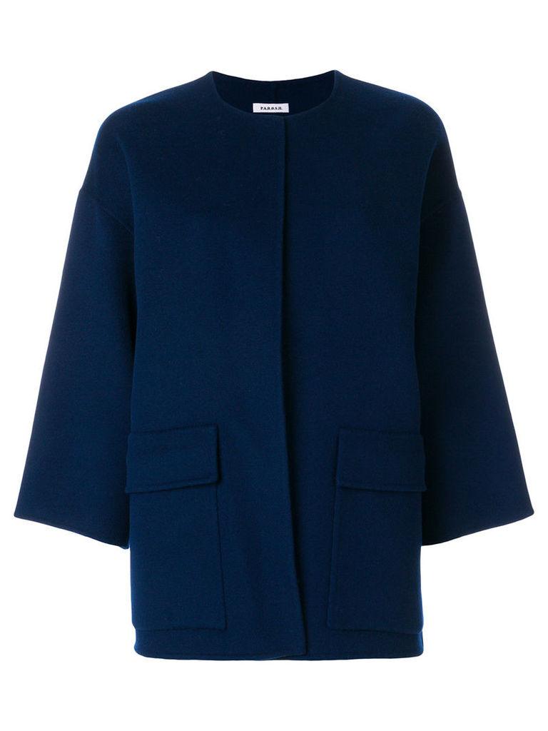 P.A.R.O.S.H. collarless boxy jacket - Blue