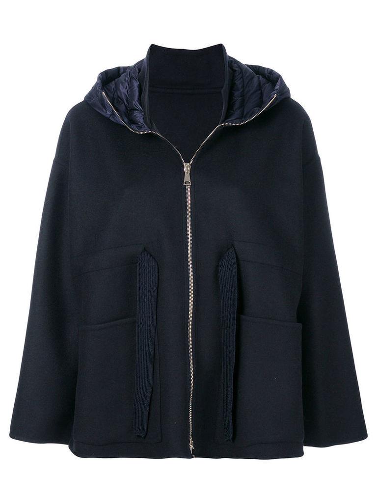 Moncler oversized boxy jacket - Blue