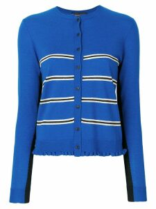 Cashmere In Love Capucine cropped striped cardigan - Blue