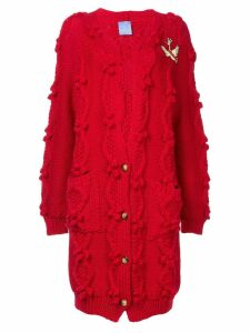 Macgraw cable knit oversized cardigan - Red