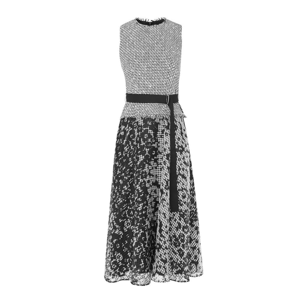 Viviene Black White Cotton Dress