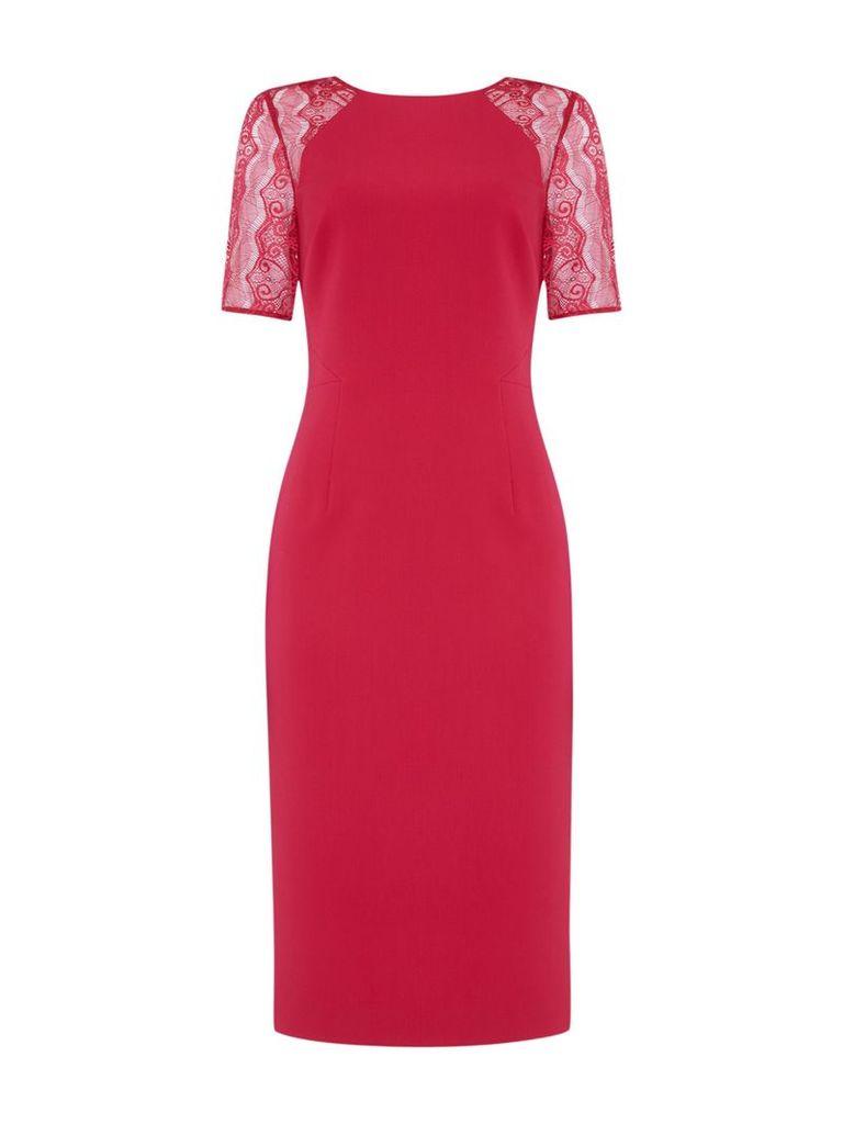 Linea Dulcie lace sleeve bodycon dress, Pink