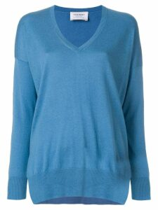 Snobby Sheep long V-neck jumper - Blue