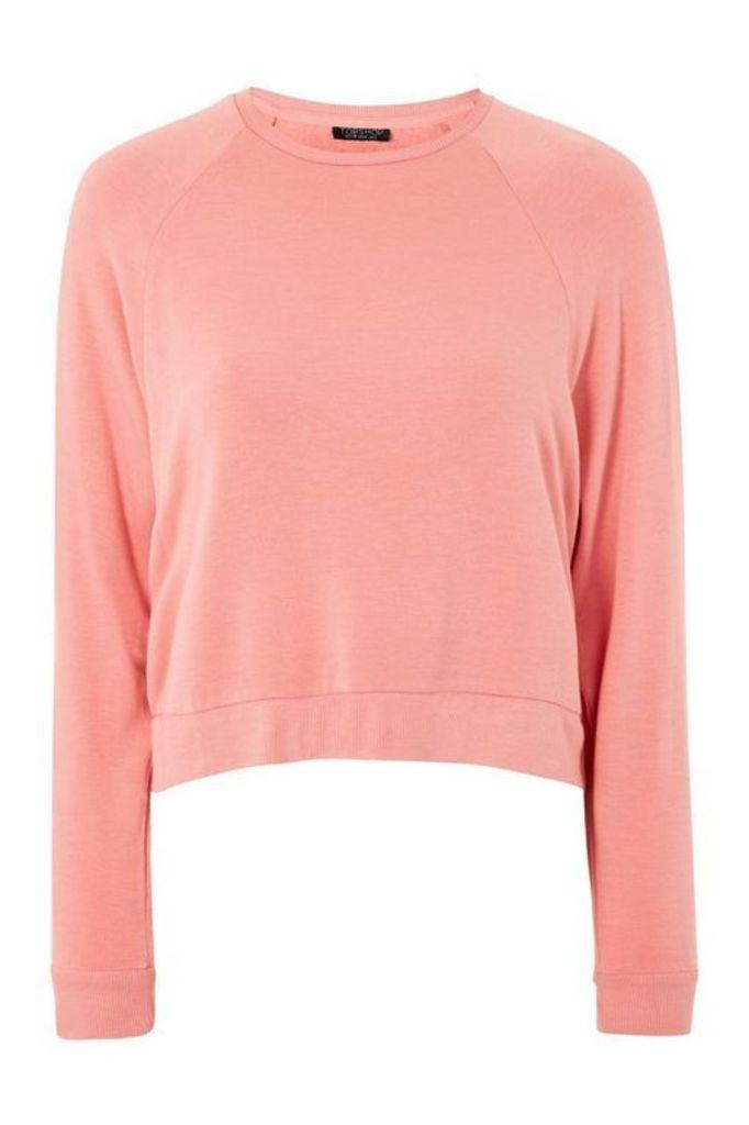 Womens Raglan Sleeve Sweatshirt - Pink, Pink