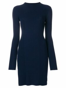 Theory side slit longline jumper - Blue