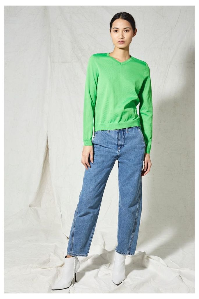Womens **V-Neck Jumper by Boutique - Green, Green