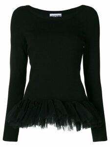 Moschino tulle hem sweater - Black