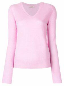 Liska classic V-neck jumper - Pink