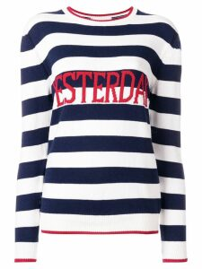 Alberta Ferretti Yesterday striped sweater - White