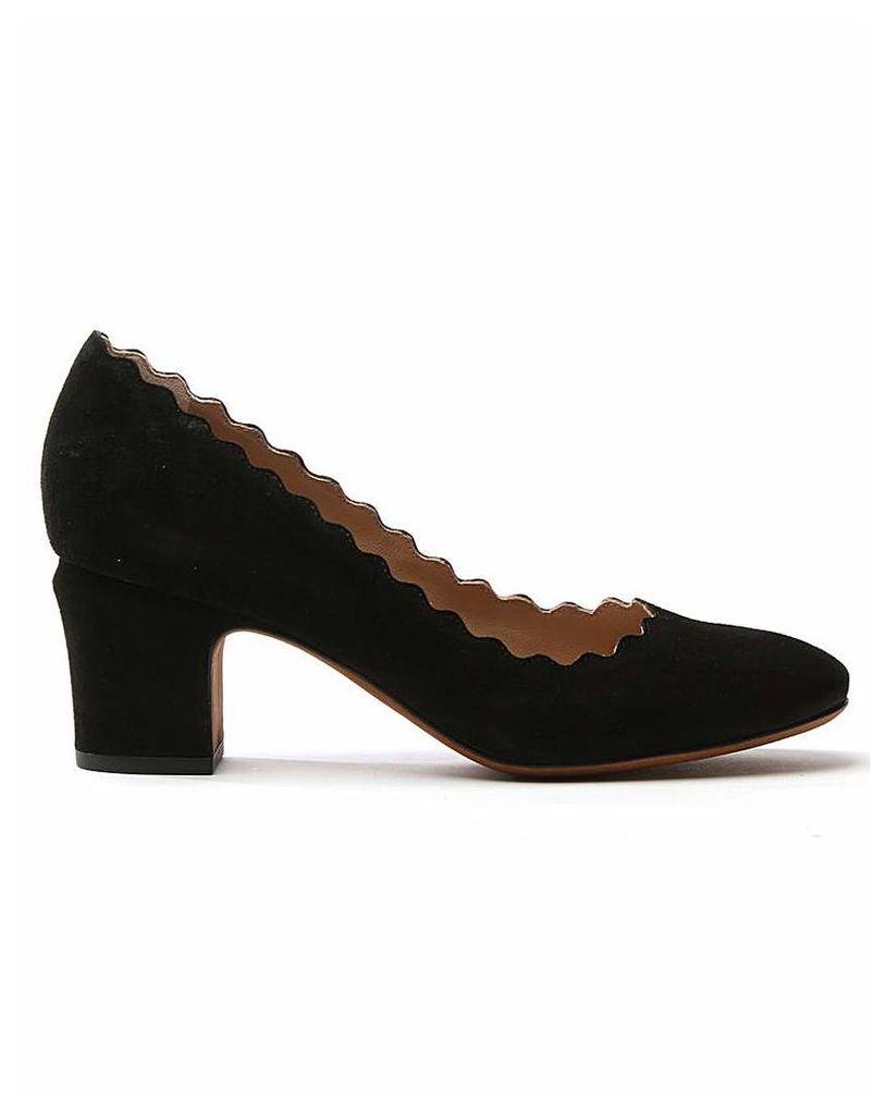 Daniel Scalloping Suede Court Shoe