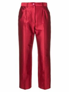 Dolce & Gabbana cropped straight trousers - Red