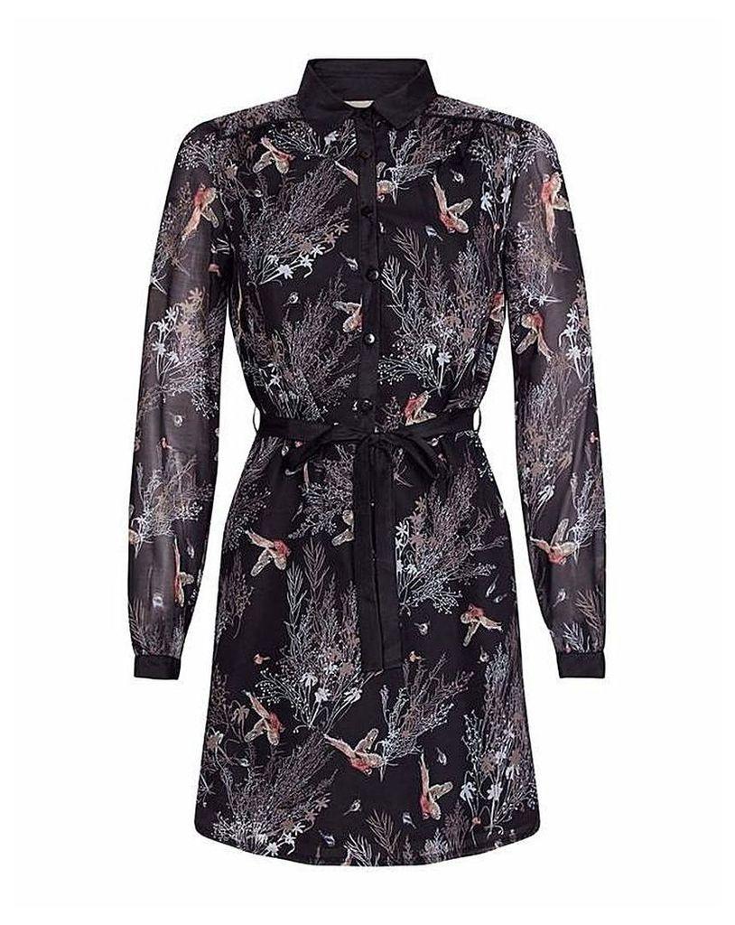 Yumi Curves Bird Tree Shirt Dress
