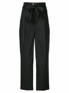 Semicouture high rise cropped trousers - Black