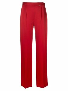 Styland straight-leg trousers - Red