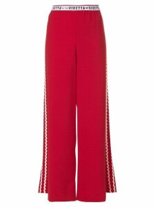 Vivetta wide-leg track pants - Red
