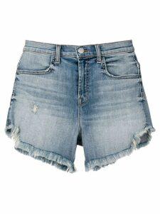 J Brand frayed denim shorts - Blue