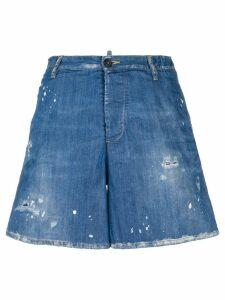 Dsquared2 distressed denim shorts - Blue