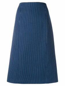 Fendi pinstripe midi skirt - Blue