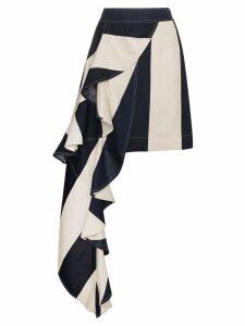 Calvin Klein 205W39nyc Mini skirt with asymmetric drape - Blue