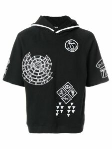 KTZ embroidered hoodie - Black