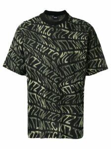 KTZ camouflage logo print T-shirt - Black