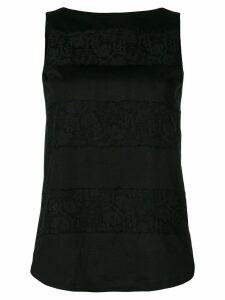 Les Copains lace insert blouse - Black