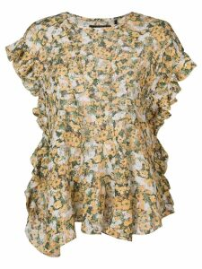 Isabel Marant Fliren floral print top - Yellow