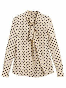Burberry polka dot pussybow blouse - Neutrals