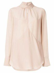 Chloé front slit blouse - Pink