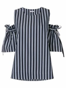 P.A.R.O.S.H. striped off-the-shoulder blouse - Blue