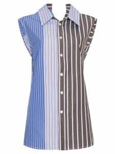 Marni Striped sleeveless blouse - Blue