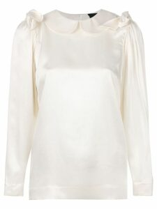 Simone Rocha round collar blouse - Neutrals
