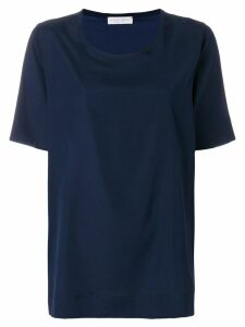 Le Tricot Perugia short-sleeve blouse - Blue