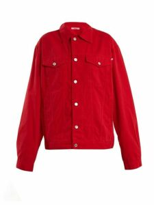 Katharine Hamnett London - Ted Oversized Denim Jacket - Womens - Red