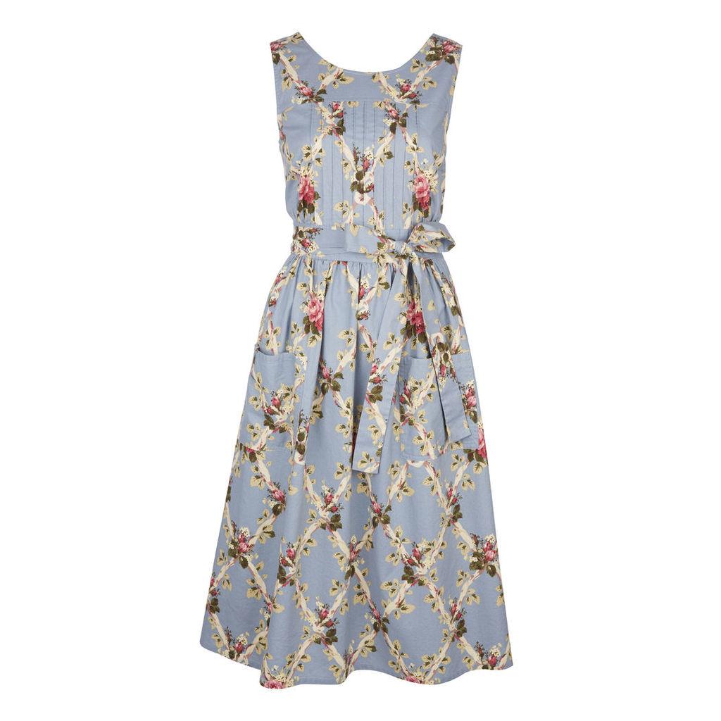 Trellis Floral Print Wrap Dress