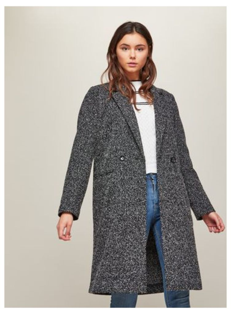 Womens Black Long Duster Jersey Jacket, Black