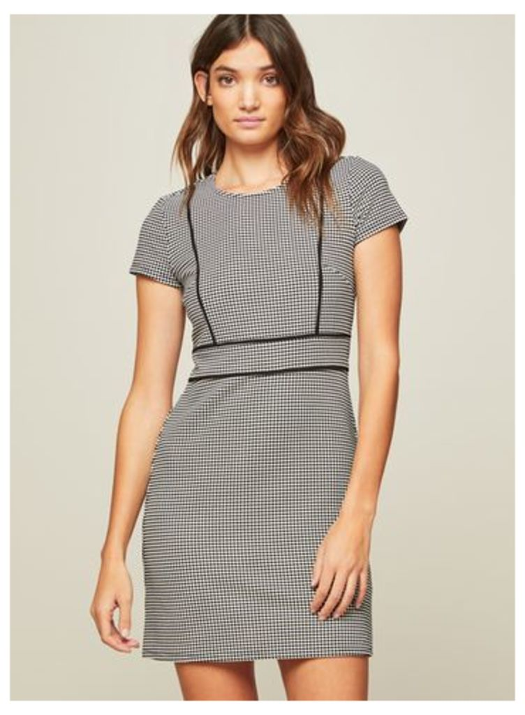 Womens Monochrome Piped Mini Shift Dress, Assorted