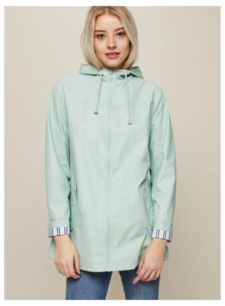 Womens Mint Raincoat, Mint Green