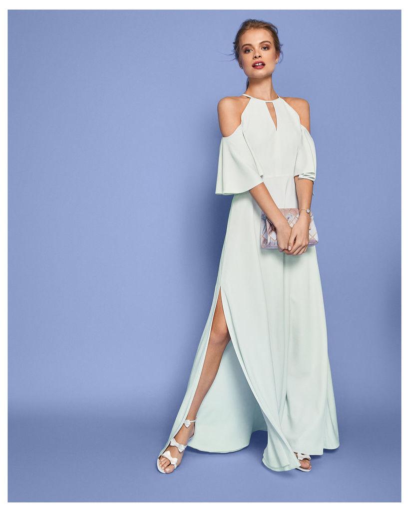 Cut-out Shoulder Maxi Dress