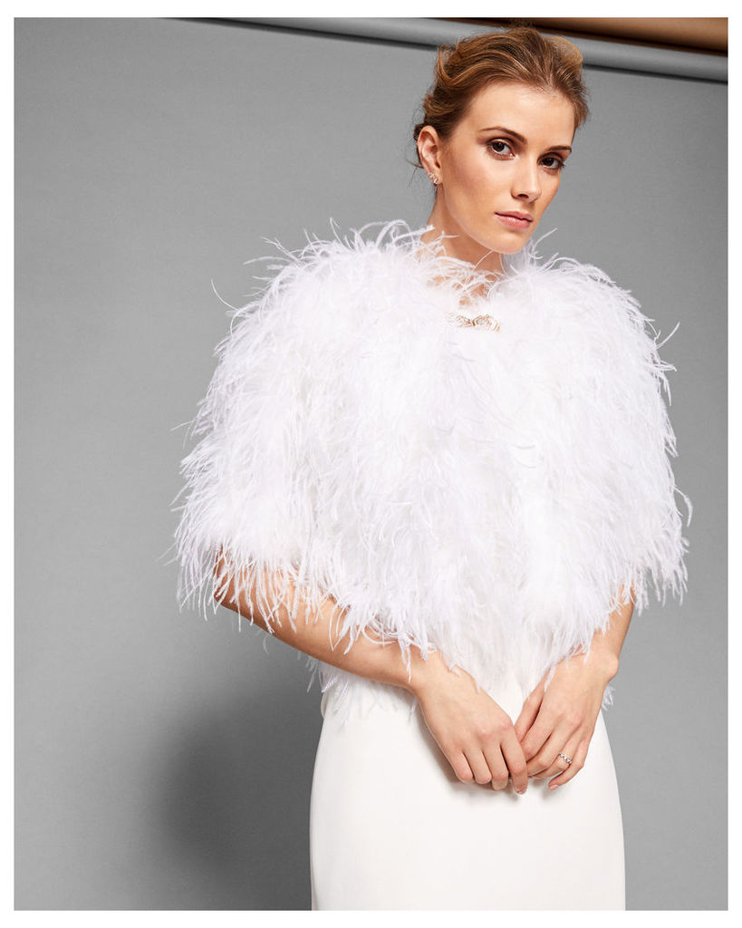 Cropped Feather Jacket