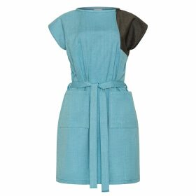 NY CHARISMA - Blue Cotton Hand Print Cardigan
