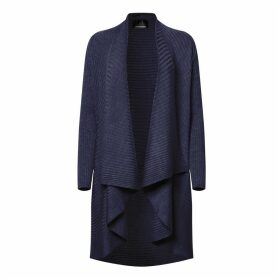 NY CHARISMA - Navy Ribbed Cardigan