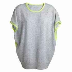 Cove - Eva Grey & Yellow Cashmere Jumper