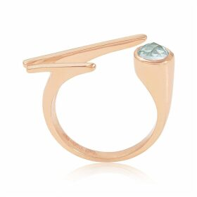 Neola - Roxanne Rose Gold Ring With Topaz