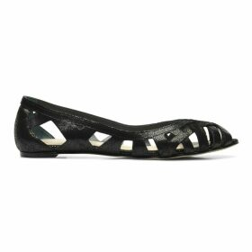 Deray Cutout Leather Ballet Pumps