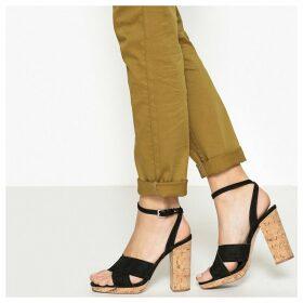 Cork Heel Sandals