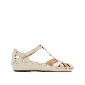 P. Vallarta 655 Leather Wedge Sandals
