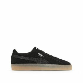 W Suede Leather Classic Bubble Trainers