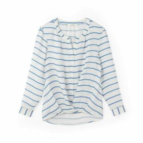 Long-Sleeved Striped Blouse